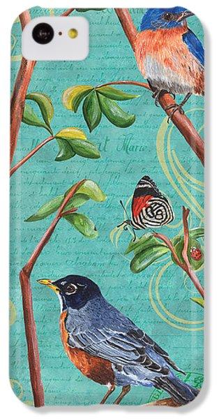 Bluebird iPhone 5c Case - Verdigris Songbirds 1 by Debbie DeWitt