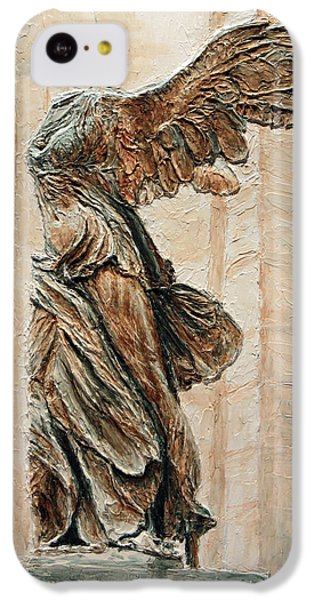 Louvre iPhone 5c Case - Victory Of Samothrace by Joey Agbayani