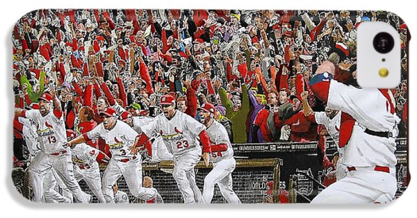 Baseball iPhone 5c Case - Victory - St Louis Cardinals Win The World Series Title - Friday Oct 28th 2011 by Dan Haraga