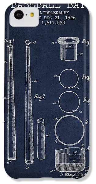 Vintage Baseball Bat Patent From 1926 IPhone 5c Case