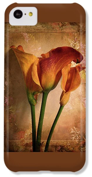 Vintage Calla Lily IPhone 5c Case by Jessica Jenney