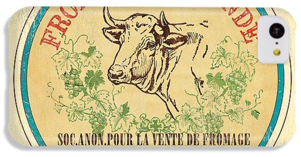 Cow iPhone 5c Case - Vintage Cheese Label 1 by Debbie DeWitt