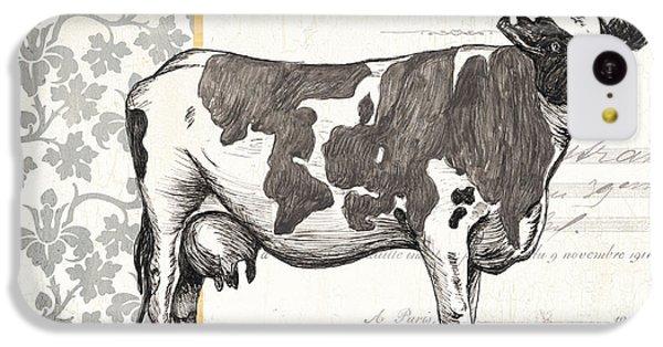 Cow iPhone 5c Case - Vintage Farm 1 by Debbie DeWitt