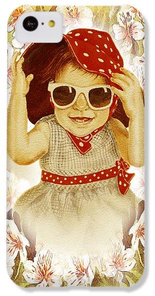 IPhone 5c Case featuring the painting Vintage Fashion Girl by Irina Sztukowski