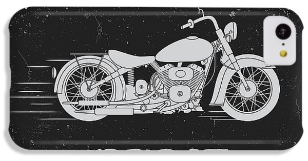 T Shirts iPhone 5c Case - Vintage Label With Motorcycle .vintage by Dimonika