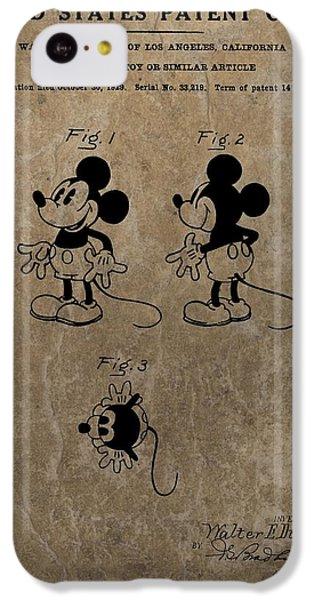Vintage Mickey Mouse Patent IPhone 5c Case