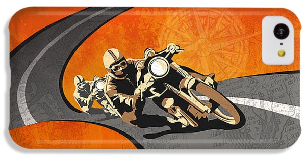 Motorcycle iPhone 5c Case - Vintage Motor Racing  by Sassan Filsoof