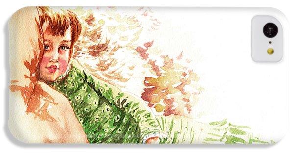 IPhone 5c Case featuring the painting Vintage Study Lilian Of James Tissot by Irina Sztukowski