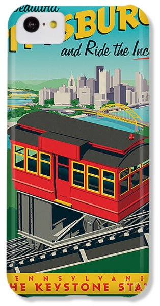 Vintage Style Pittsburgh Incline Travel Poster IPhone 5c Case