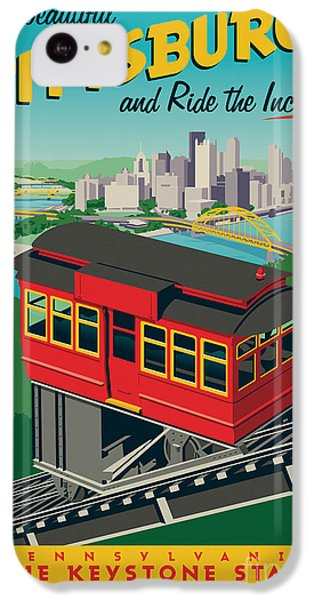 Vintage Style Pittsburgh Incline Travel Poster IPhone 5c Case by Jim Zahniser