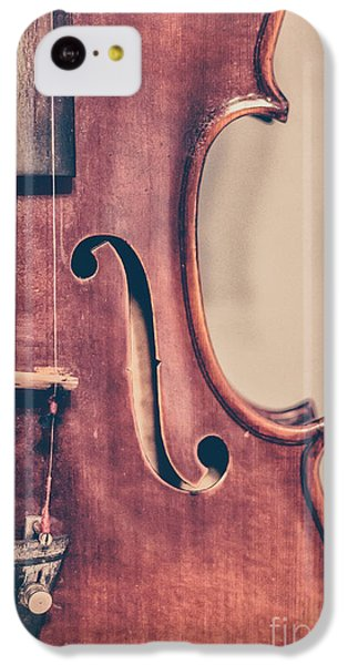 Violin iPhone 5c Case - Vintage Violin Portrait 2 by Emily Kay