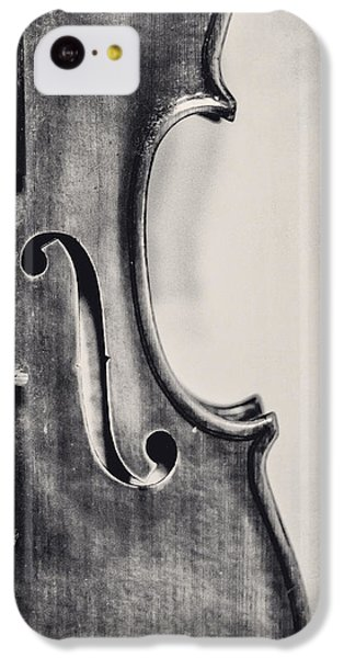 Violin iPhone 5c Case - Vintage Violin Portrait In Black And White by Emily Kay