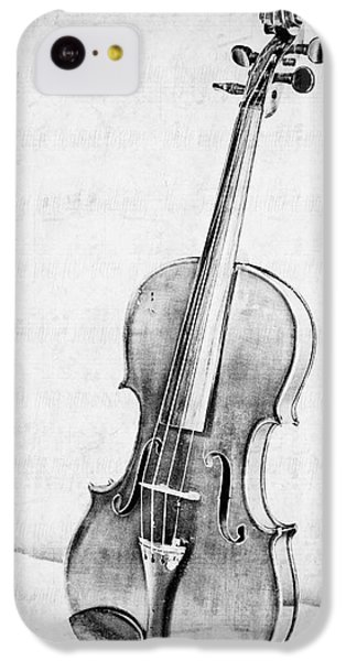 Violin iPhone 5c Case - Violin In Black And White by Emily Kay