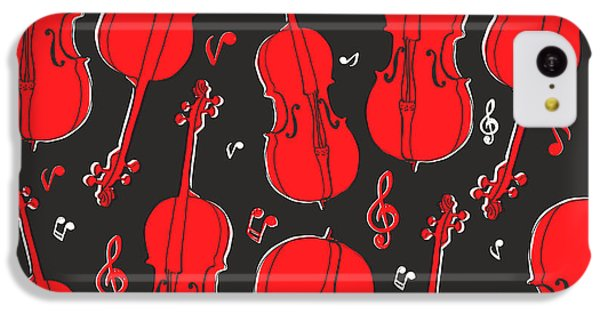 Sound iPhone 5c Case - Violin Pattern by Subbery