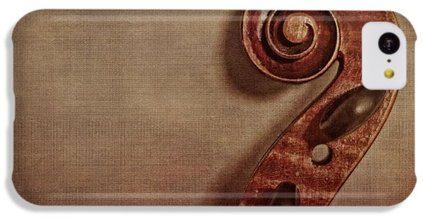 Violin iPhone 5c Case - Violin Scroll by Emily Kay