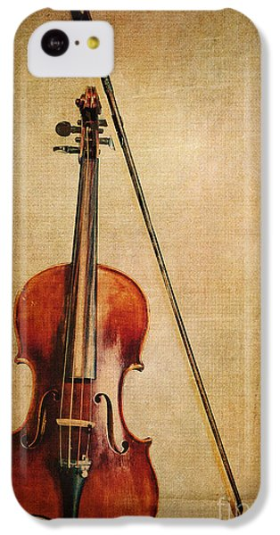 Violin iPhone 5c Case - Violin With Bow by Emily Kay