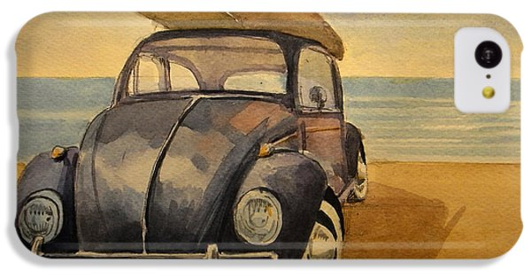Beetle iPhone 5c Case - Volkswagen Beetle by Juan  Bosco