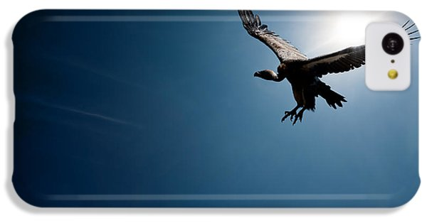 Vulture Flying In Front Of The Sun IPhone 5c Case by Johan Swanepoel