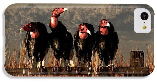 Vultures On A Fence IPhone 5c Case by Daniel Eskridge