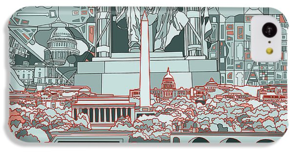 Washington Dc Skyline Abstract IPhone 5c Case