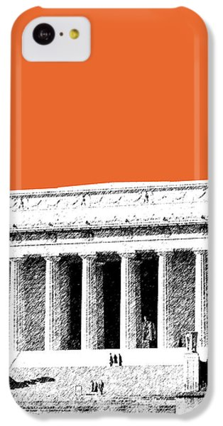 Washington Dc Skyline Lincoln Memorial - Coral IPhone 5c Case by DB Artist