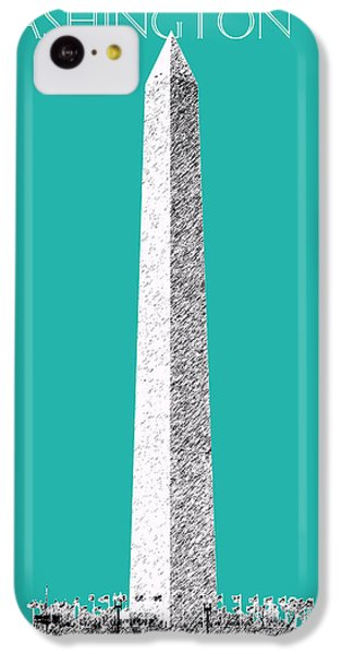 Washington Dc Skyline Washington Monument - Teal IPhone 5c Case by DB Artist
