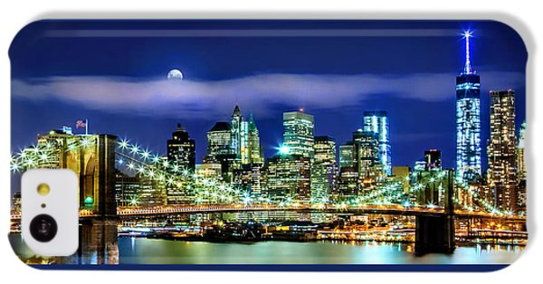 New York City Skyline iPhone 5c Case - Watching Over New York by Az Jackson