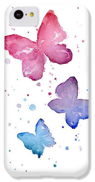 Watercolor Butterflies IPhone 5c Case by Olga Shvartsur