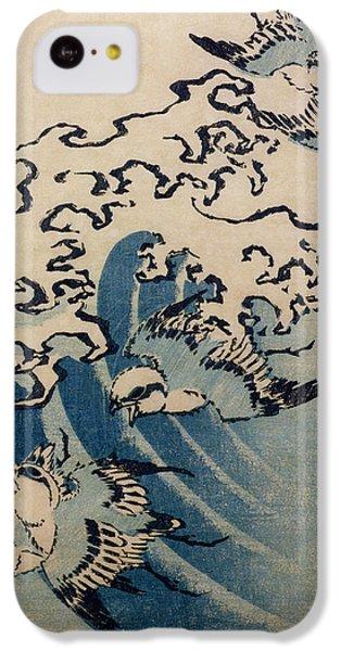 Waves And Birds IPhone 5c Case by Katsushika Hokusai