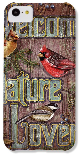 Cardinal iPhone 5c Case - Welcome Nature Lovers 2 by JQ Licensing