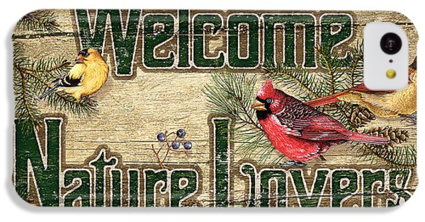 Cardinal iPhone 5c Case - Welcome Nature Lovers by JQ Licensing