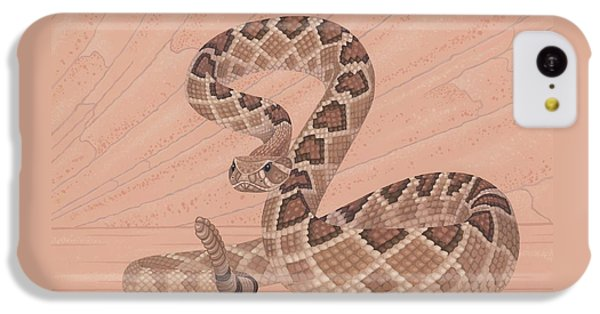 Western Diamondback Rattlesnake IPhone 5c Case by Nathan Marcy