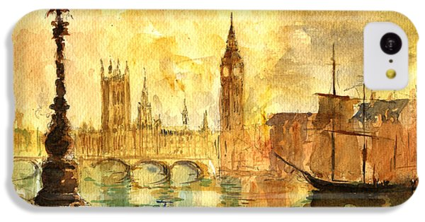 Big Ben iPhone 5c Case - Westminster Palace London Thames by Juan  Bosco