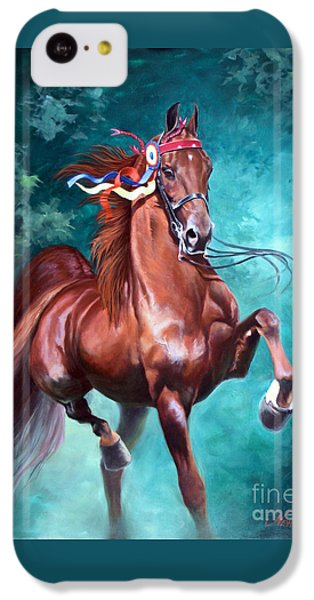 Horse iPhone 5c Case - Wgc Courageous Lord by Jeanne Newton Schoborg