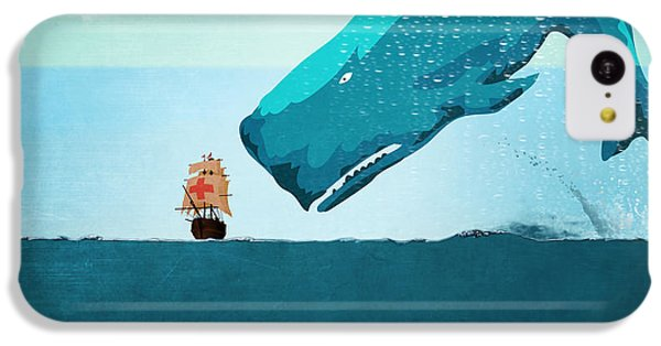 Whale IPhone 5c Case by Mark Ashkenazi