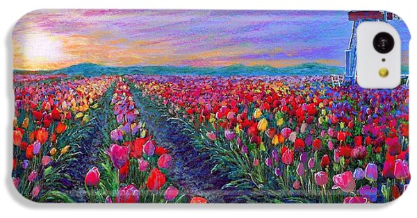 Tulip iPhone 5c Case -  Tulip Fields, What Dreams May Come by Jane Small