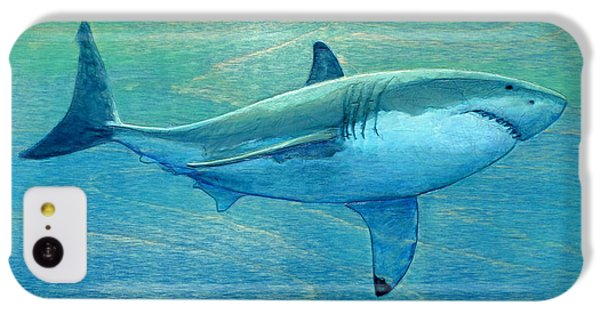 Sharks iPhone 5c Case - What Lurks Below by Nathan Ledyard