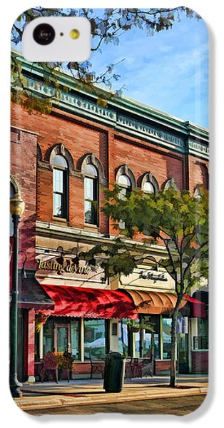 Wheaton Front Street Stores IPhone 5c Case by Christopher Arndt