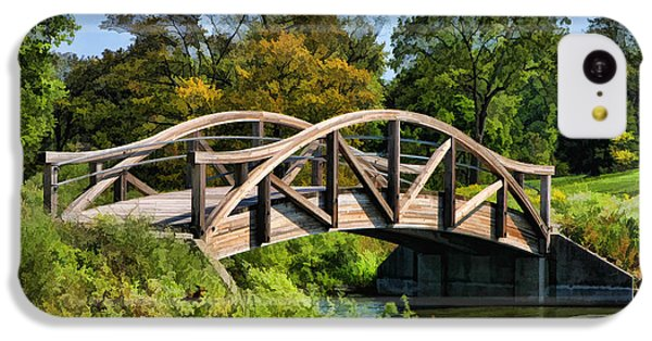 Wheaton Northside Park Bridge IPhone 5c Case by Christopher Arndt