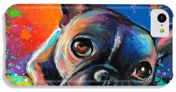 Dog iPhone 5c Case - Whimsical Colorful French Bulldog  by Svetlana Novikova