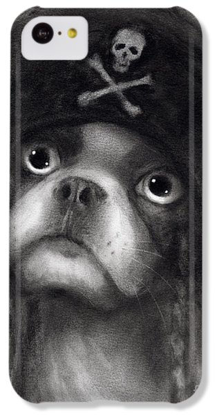 Whimsical Funny French Bulldog Pirate  IPhone 5c Case