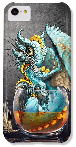 Dragon iPhone 5c Case - Whiskey Dragon by Stanley Morrison