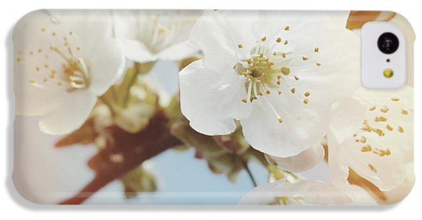 Detail iPhone 5c Case - White Apple Blossom In Spring by Matthias Hauser