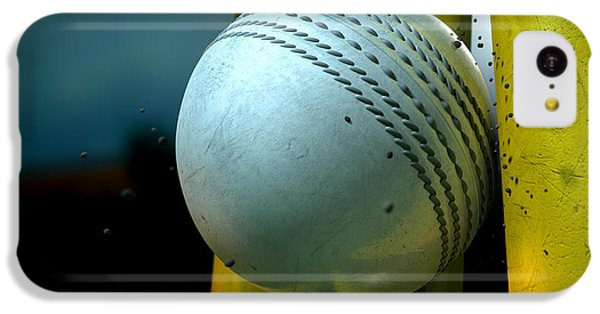 White Cricket Ball And Wickets IPhone 5c Case by Allan Swart