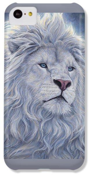White Lion IPhone 5c Case by Lucie Bilodeau