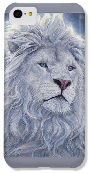 Animal iPhone 5c Case - White Lion by Lucie Bilodeau