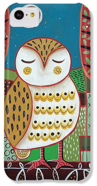 White Owl IPhone 5c Case by Karla Gerard