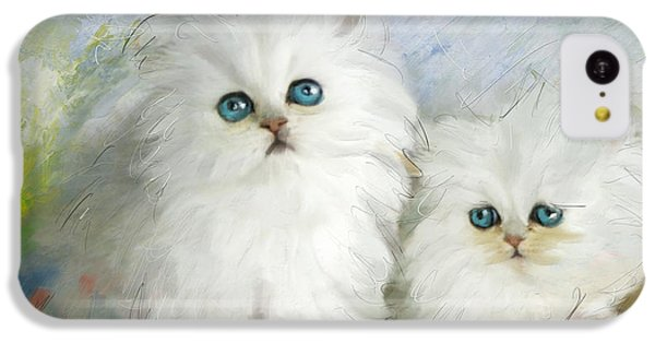 White Persian Kittens  IPhone 5c Case by Catf