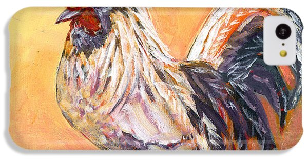 Chicken iPhone 5c Case - White Rooster by Jennifer Lommers