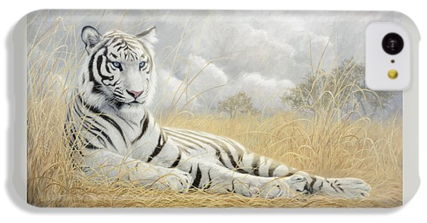 Tiger iPhone 5c Case - White Tiger by Lucie Bilodeau